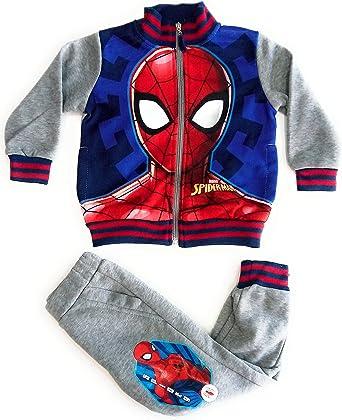 Chandal Spiderman Marvel Gris/Azul: Amazon.es: Ropa y accesorios