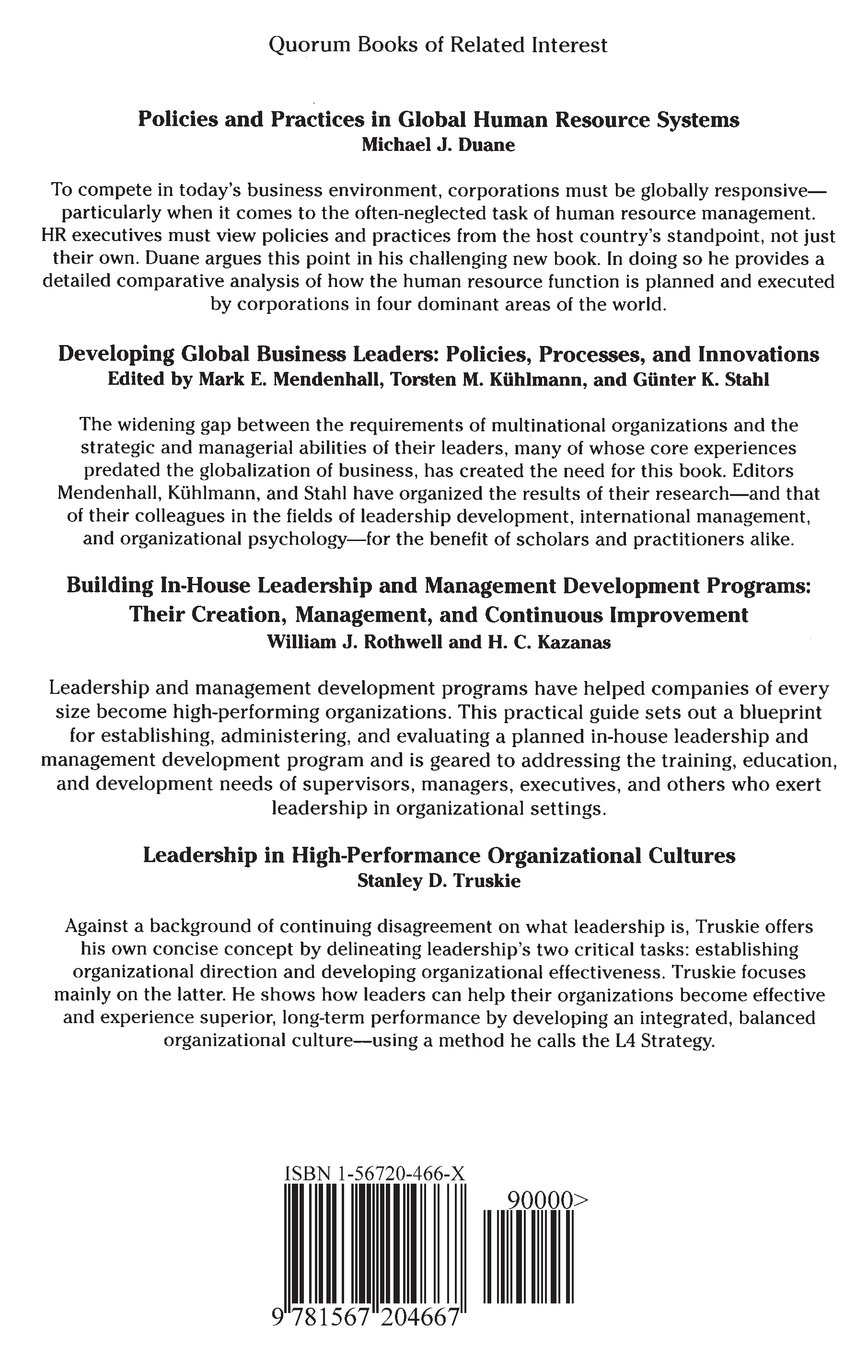 Cross cultural approaches to leadership development c brooklyn cross cultural approaches to leadership development c brooklyn derr sylvie roussillon frank bournois 9781567204667 amazon books malvernweather Images