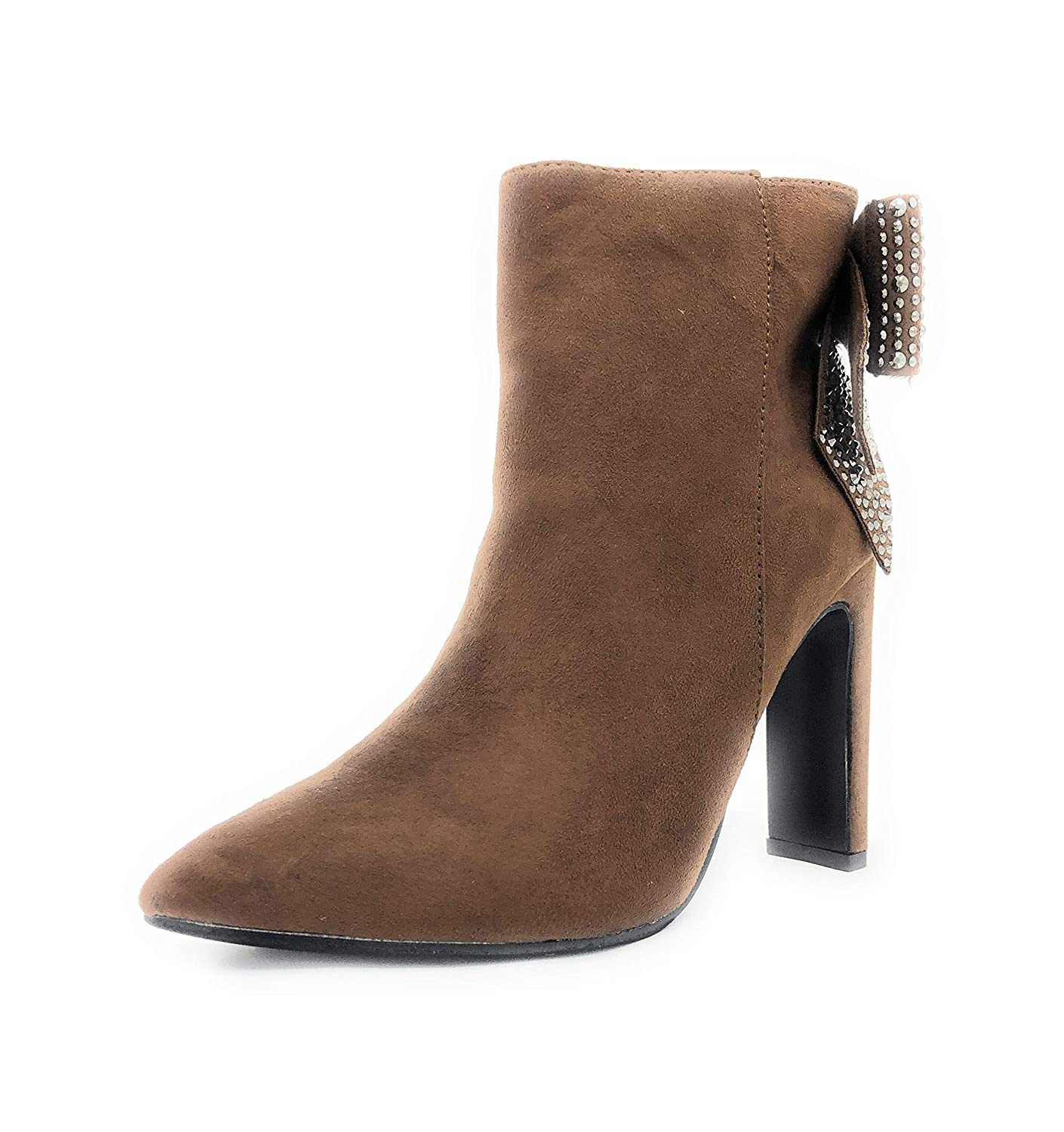 Camel-lala-02 SOLE COLLECTION Pointed Toe Ankle Boots Size Zipper Stiletto High Heels Party Wedding Pumps Dress shoes for Women