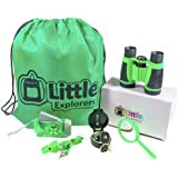 Little Explorers Outdoor Exploration Kit Adventure Set for Kids   Premium Binoculars, Flashlight, Compass, Magnifying Glass, Whistle & Backpack. Great Gift Set for Camping, Hiking, and Exploring.