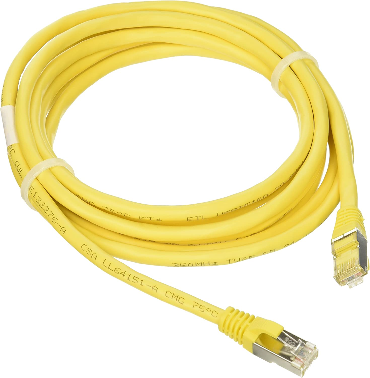 10 Feet, 3.04 Meters Snagless Shielded Ethernet Network Patch Cable Yellow C2G 27258 Cat5e Cable