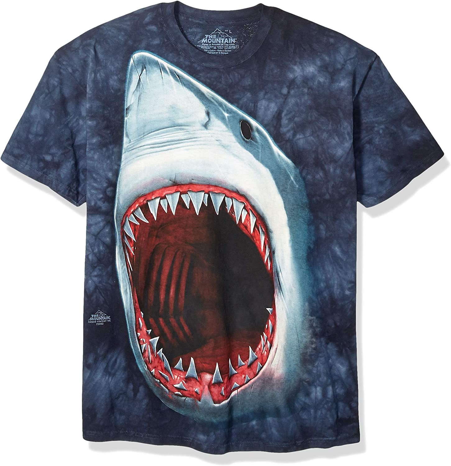The Mountain Mens Shark Bite Short Sleeve Tee