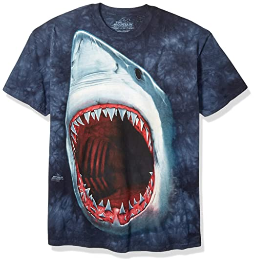 423c7a6bda3 Amazon.com: The Mountain Mens Shark Bite Short Sleeve T-Shirt: Clothing