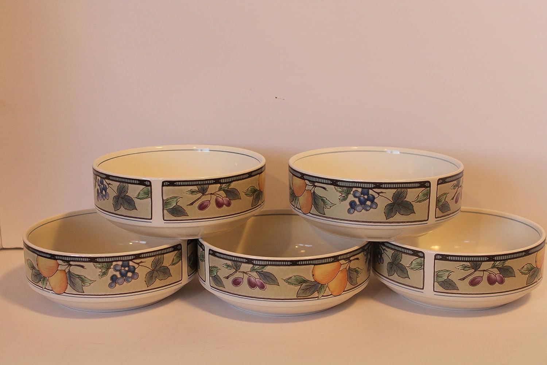 MIKASA Garden Harvest SET/5 Soup Cereal Bowls ~ Excellent Condition ...