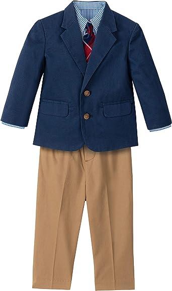 NAUTICA Big Boys 16 Black Pin Stripe 3-Piece Suit Set NWT $150