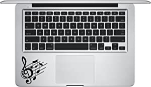 Laptop Sticker Decal - #2 Music Notes Keypad Palm Rest - Matte Black Cycle Run Skins Stickers