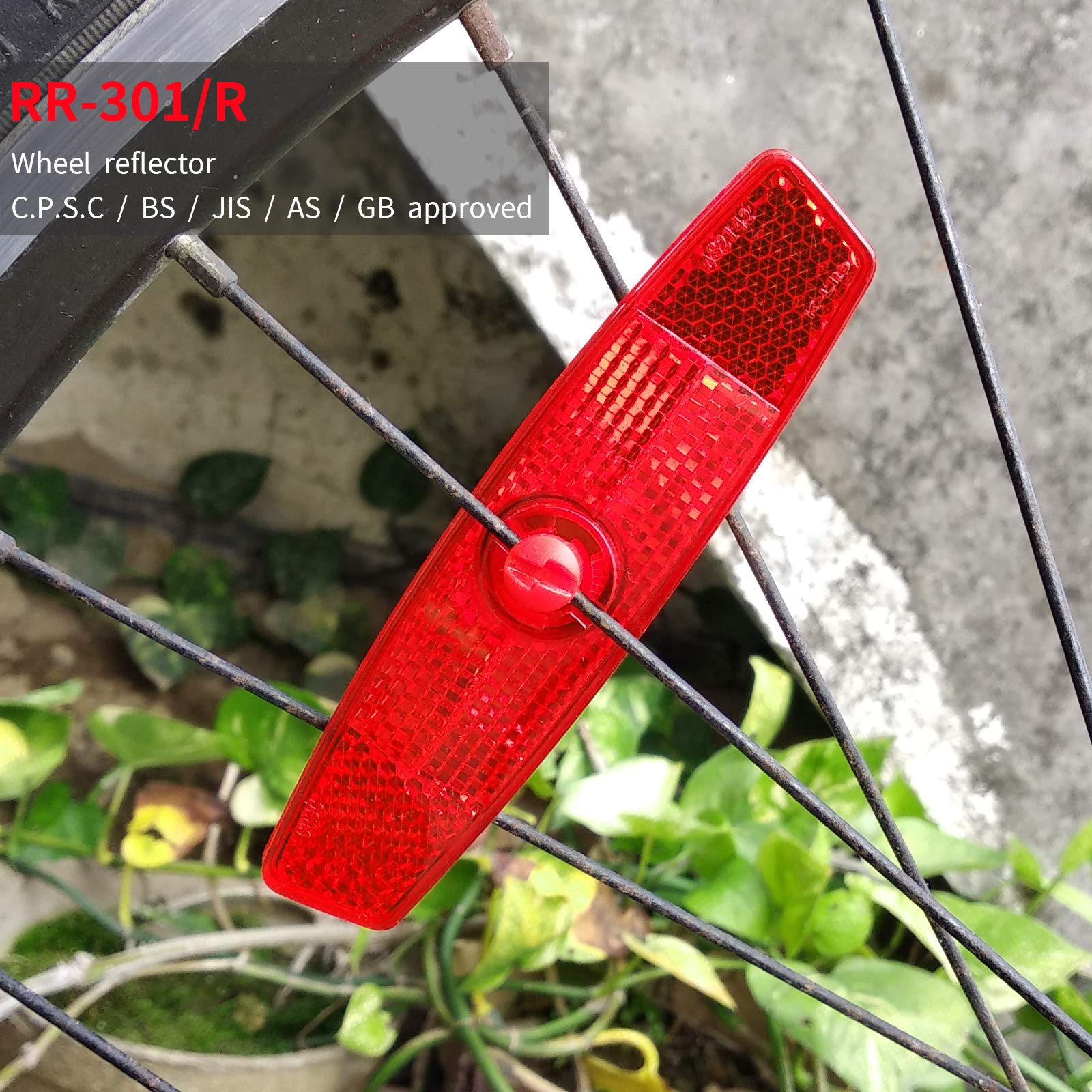 BSK 2Pcs Red Bicycle Wheel Spoke Night Safety Warning Reflector