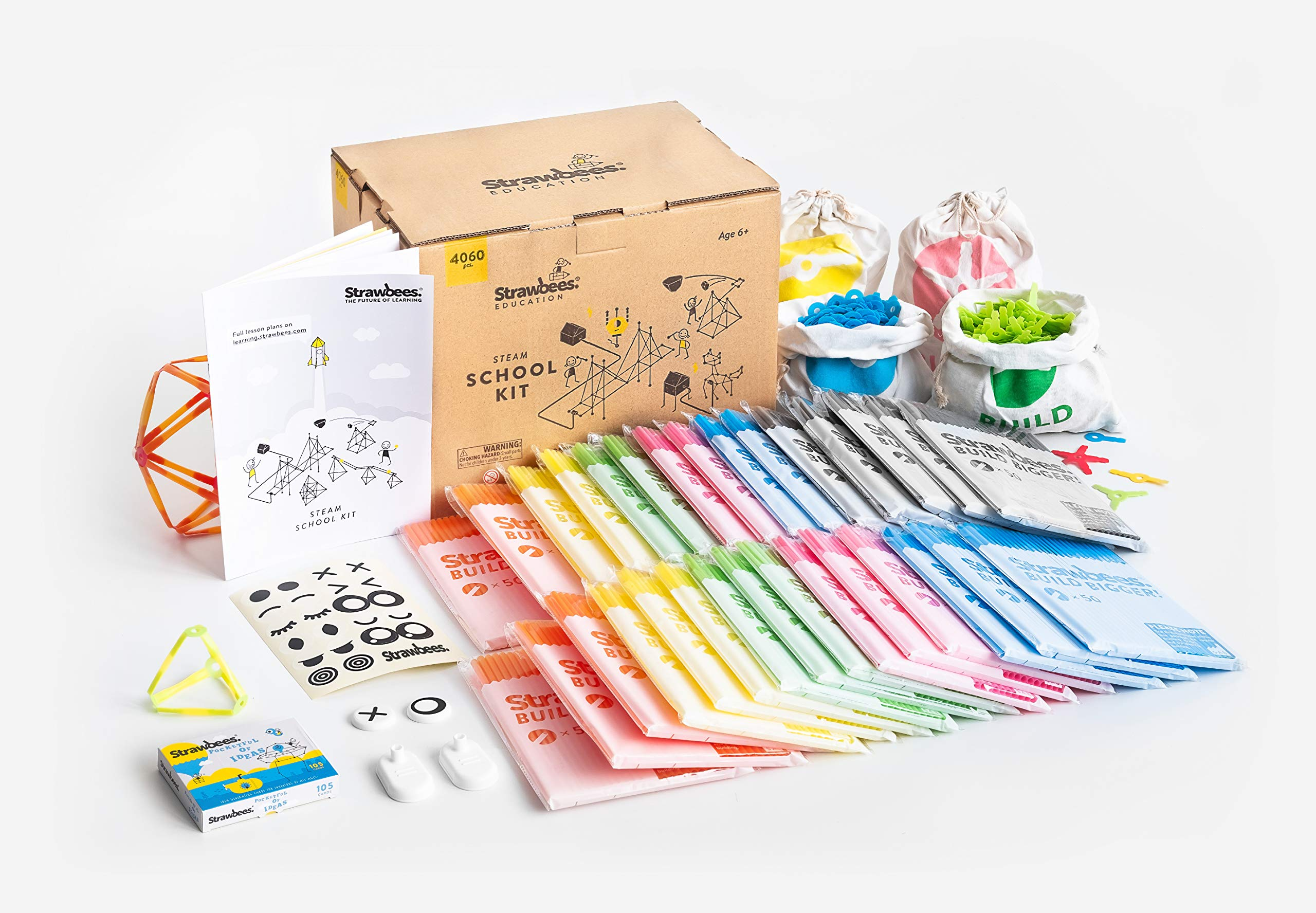 Strawbees STEAM School Kit | 4096 Color-Coded Pieces | Perfect for a Classroom