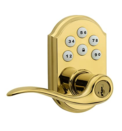 Weiser SmartCode 5 Electronic Deadbolt with Toluca Lever in Polished ...