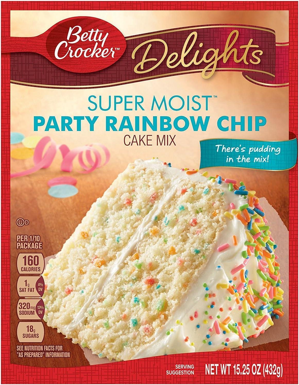 Marvelous Betty Crocker Rainbow Cake Mix 432G Pack Of 1 Amazon Co Uk Grocery Personalised Birthday Cards Vishlily Jamesorg