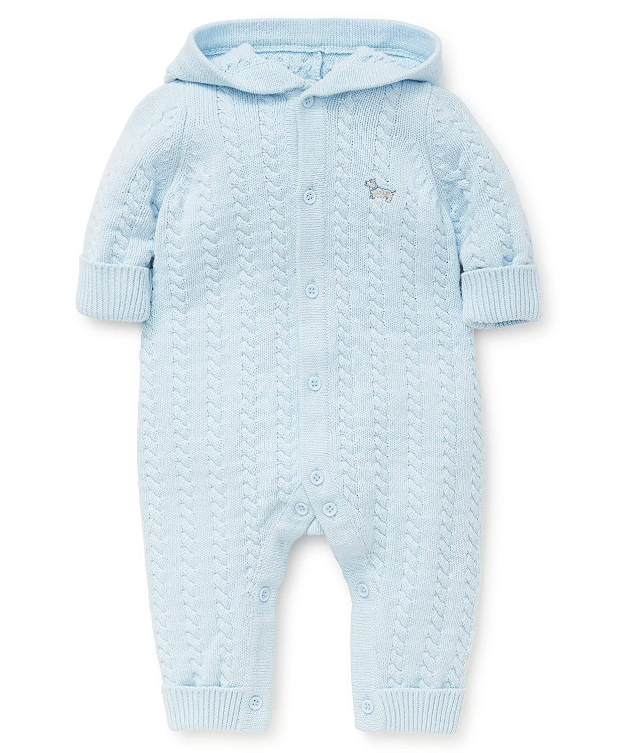 Little Me Baby Boys Sweater Coveralls LCE07603N