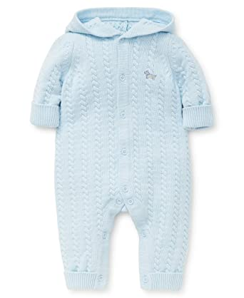 2e4076b8a6c8 Amazon.com  Little Me Baby Boys Sweater Coveralls  Clothing