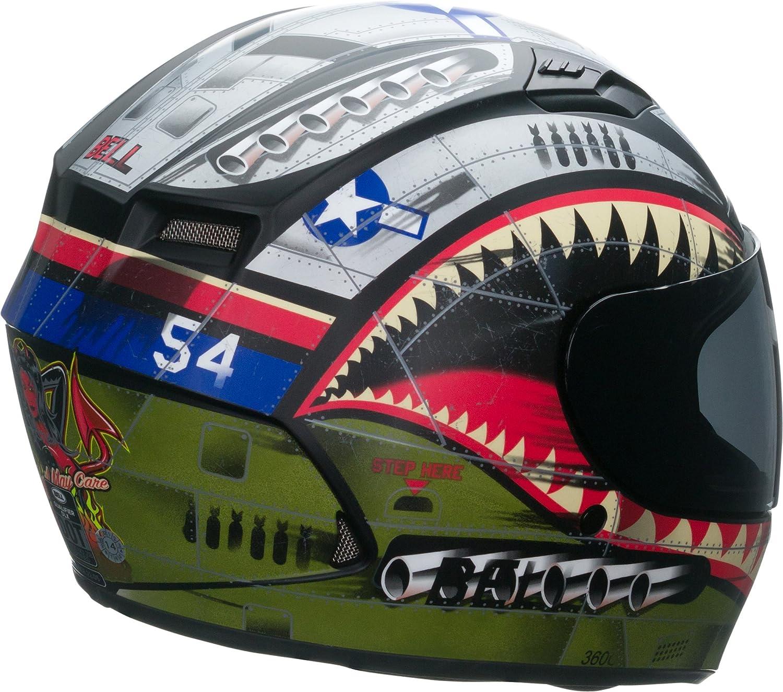 Amazon.com: Bell Qualifier DLX Full-Face Motorcycle Helmet (Matte Devil May Care, XX-Large): Automotive
