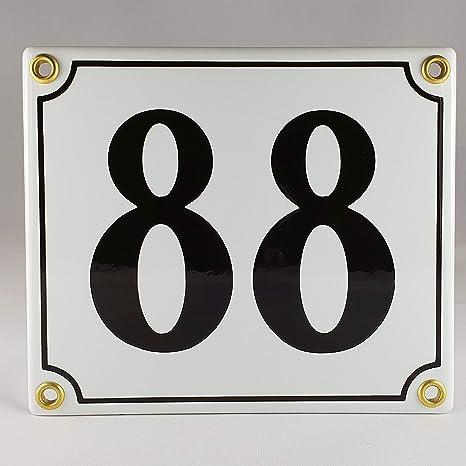 Emaille Schild Hausnummer 27 Schwarz-Wei/ßHandarbeit