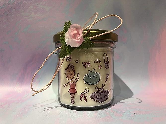Ballerina di danza classica candela con disegno e ciondolo a scelta