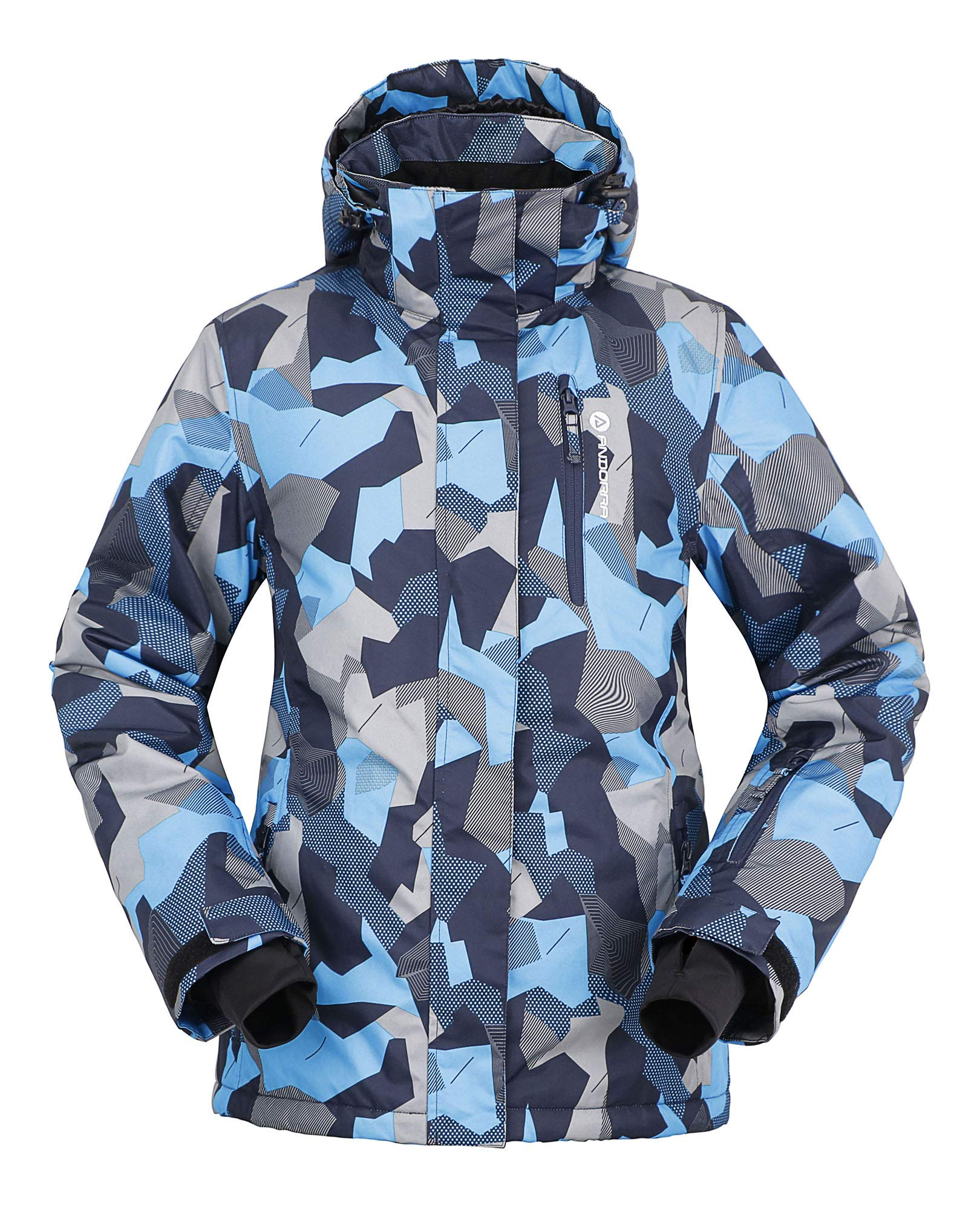 Andorra Snowboarding Jacket Insulated Windproof Mountain Fishing Hiking Coat,Himalayan Shades,L by Andorra