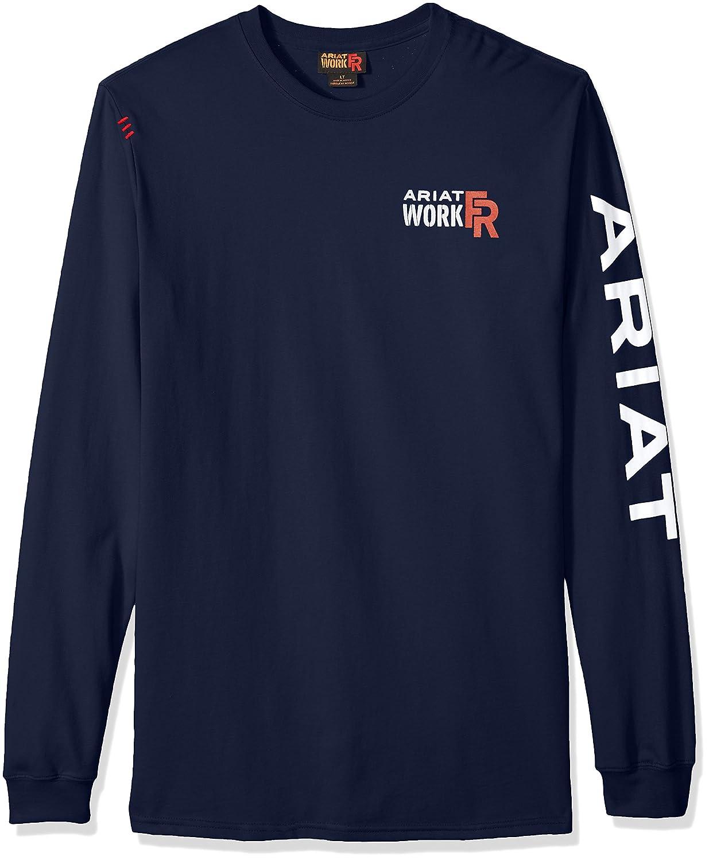 Ariat SHIRT メンズ B01H985LA4 3L|ネイビー ネイビー 3L