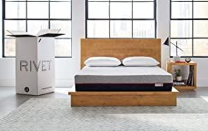 Rivet King Mattress – Celliant Cover, Responsive 3-layer Memory Foam for Support and Better Overnight Recovery, CertiPUR Certified, 100% USA-made, Bed in a Box, 100-Night Trial