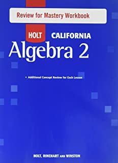 Amazon Com Holt Algebra 1 Review For Mastery Workbook Algebra 1