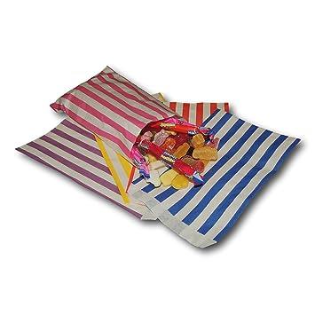 Eposgear 100 Mischfarbe Süßigkeiten Streifen Papiertüten Süßes