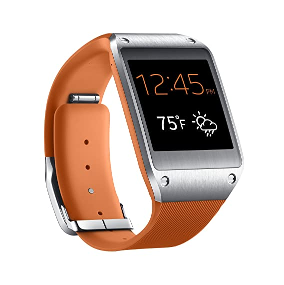 e20ad0f5a10 Image Unavailable. Image not available for. Color  Samsung Galaxy Gear  Smartwatch- Retail Packaging - Wild Orange (Discontinued by Manufacturer)