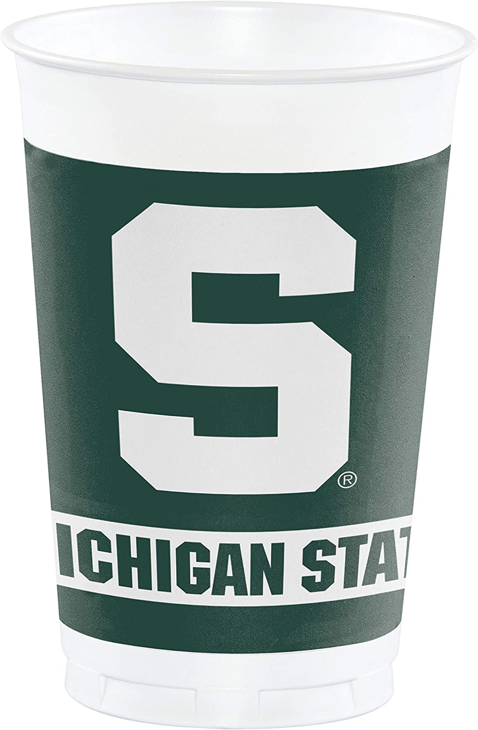 Michigan State Spartans 20 oz. Plastic Cups, 8-Count