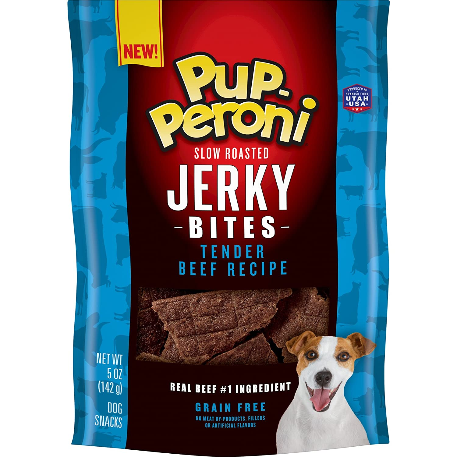 Pup-Peroni Jerky Bites Tender Beef Dog Treats, 5 Ounce Pack Of 6