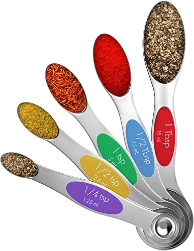 Vremi Magnetic Stainless Steel Measuring Spoons