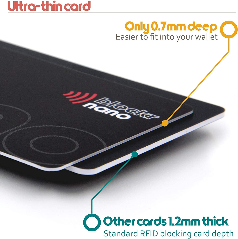 RFID Sperrkarte Kontaktloser Kreditkartenschutz von Blockr Nano Europa/'s d/ünnste und st/ärkste RFID Blocker Karte