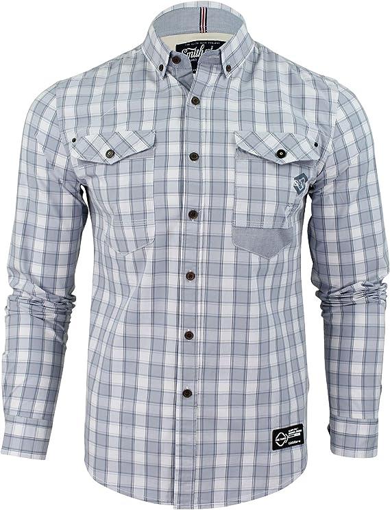 Hombres Camisas Cuadros Smith & Jones pembridge Mango Larga