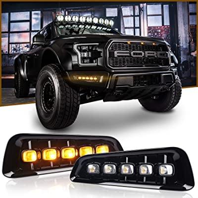 Ford Raptor Fog Lights with LED Switchback DRL Turn Signal Lights for Ford F150 Raptor 2020 up: Automotive
