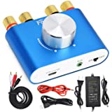 Facmogu F900 2 CH Bluetooth Amplifier 100W with Power Supply Adapter DC 12V 5A, 50W + 50W BT 5.0 Mini Wireless Audio Power AM