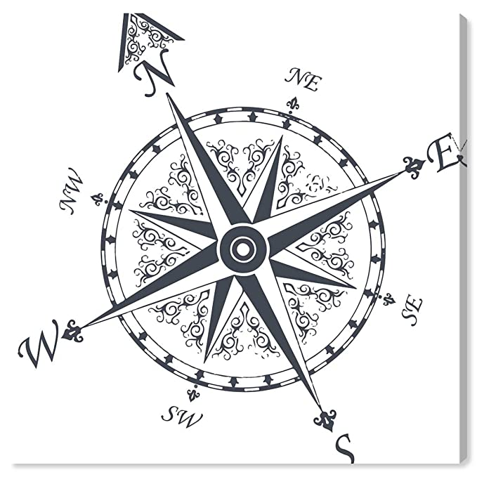 Amazon Com The Oliver Gal Artist Co Oliver Gal Nautical Compass