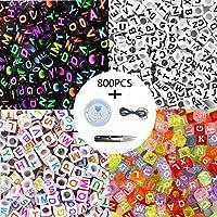 800pcs 4 letras de letras del alfabeto
