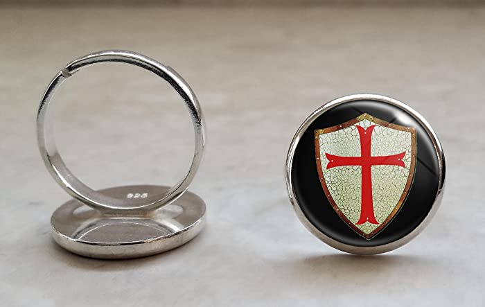 Amazon com: Knights Templar Shield with Red Cross  925