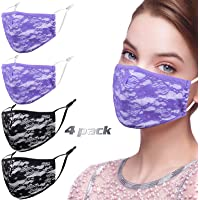 Alldriey Luxury Sequin Face Mask with Adjustable Ear Loops for Protection - Reusable Face Mask, Washable Face Mask