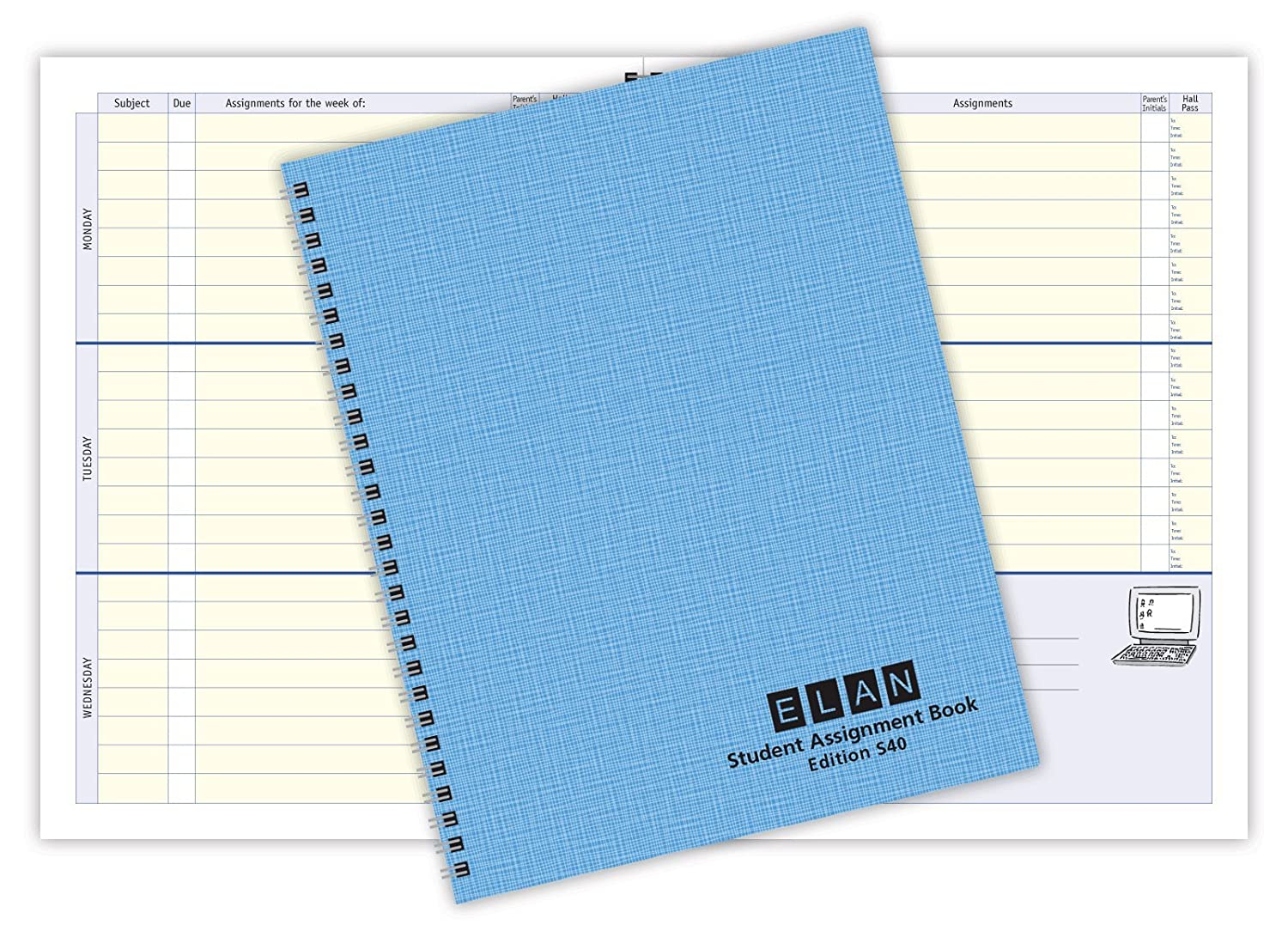 Amazon.com : Undated Student Assignment Book (S40) : Office Products