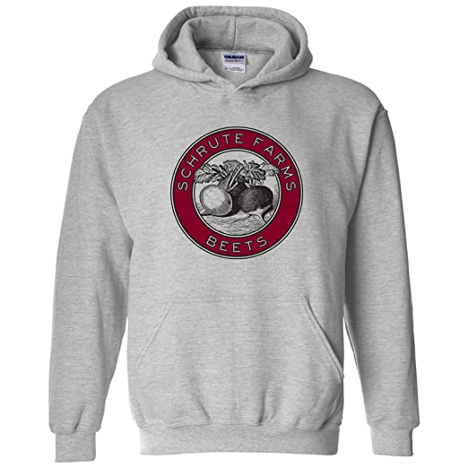 e4b5185cac1a UGP Campus Apparel Schrute Farms Beets - Funny TV Show Hoodie - Small -  Sport Grey