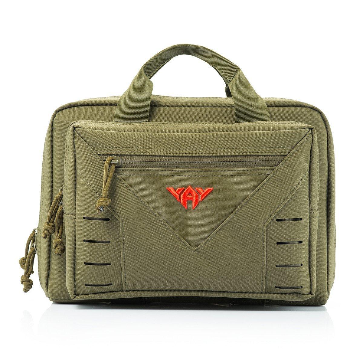 vAv YAKEDA Tactical Pistol Case Shooting Gun Range Duffle Bag Handgun Magazine Pouch 10L