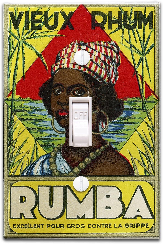 Vieux Rhum Rumba marca etiqueta de Ron (luz Switchplate Cover ...