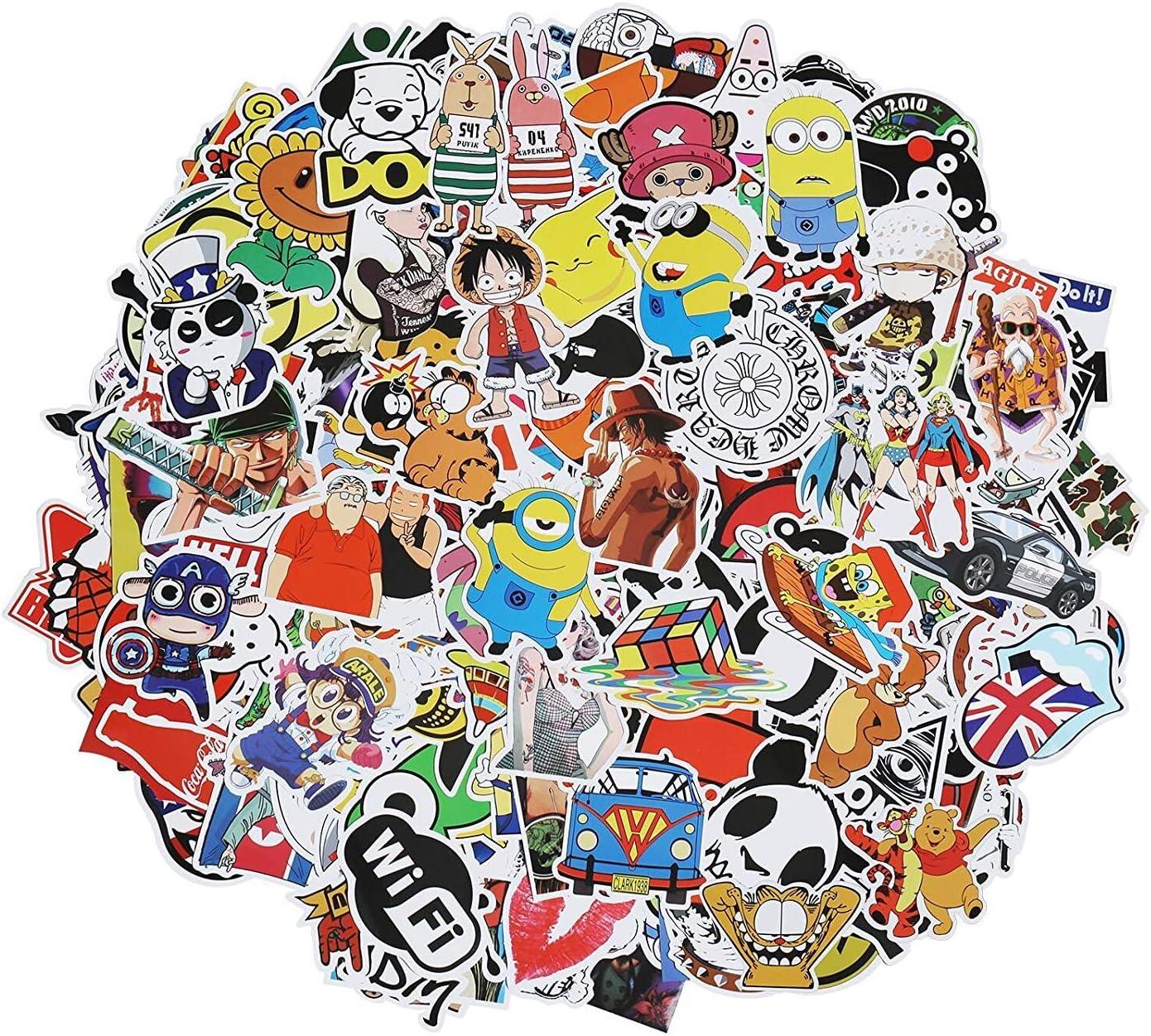 Xpassion 300 Paquete de Pegatinas de Calcomanías Vinilo para Todos los Estilos para Portátil, Dormitorio, Funda de Viaje, Equipaje de Coche, Bicicleta, Moto, Monopatín, Stickers Graffiti