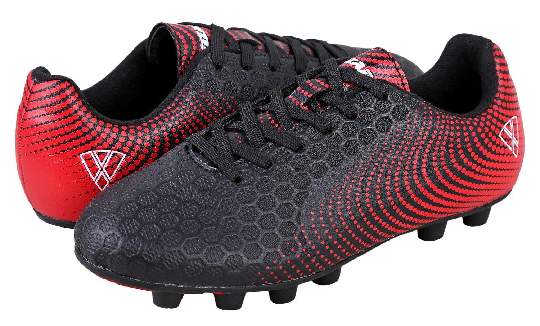 Vizari Youth/Jr Stealth FG Soccer Cleats | Soccer Cleats Boys | Kids Soccer Cleats | Outoor Soccer Shoes | Black/Red 2 by Vizari (Image #7)