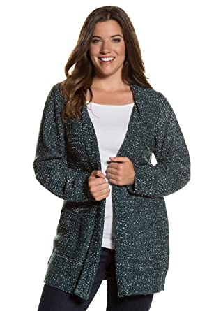 Tailles Popken Femme 'femme Ulla Manche Pull Longue Cardigan Grandes 2WEH9ID