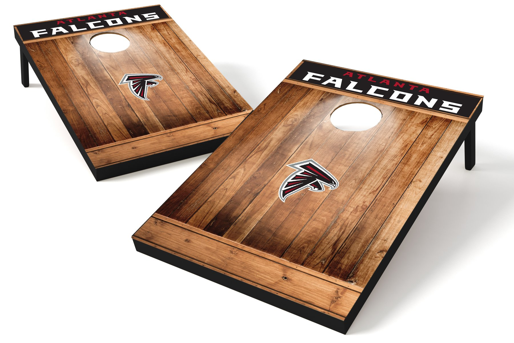 Wild Sports NFL Atlanta Falcons 2'x3' Cornhole Set - Brown Wood Design