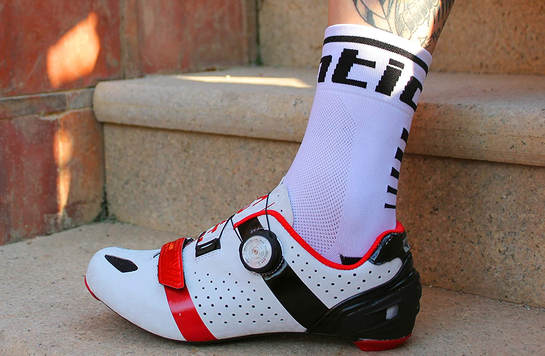 1 Pair Santic Cycling Socks Outdoor Hiking Trekking Performance Crew Socks Men /& Women