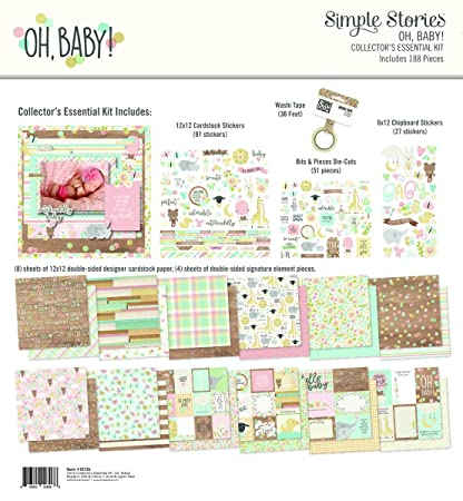 Multi-Colour Simple Stories Oh Baby Collectors Essential Kit Large