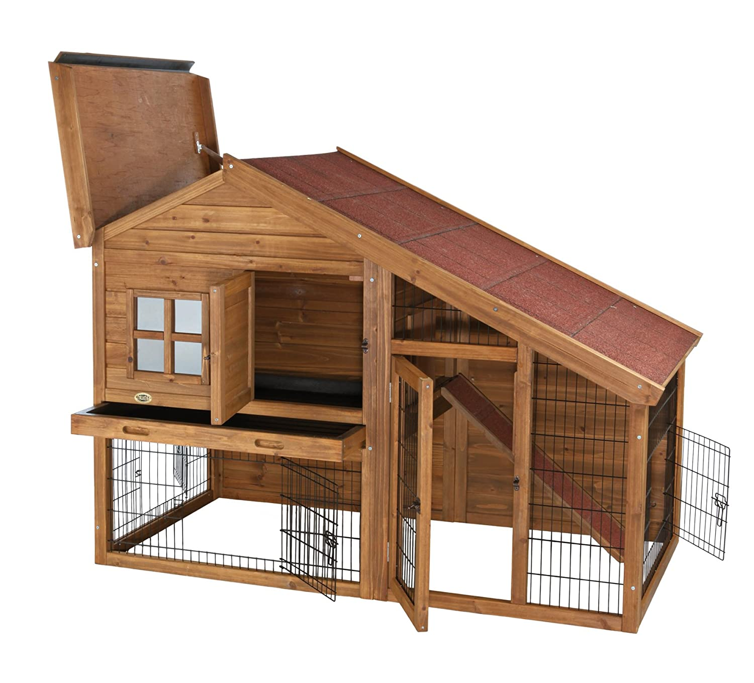 and rabbit trixie hutches cages gb brown natura on hutch cm onbuy
