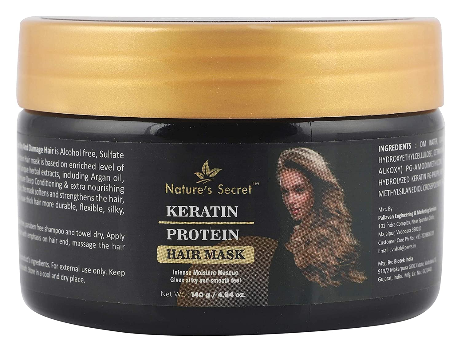 Nature S Secret Keratin Protein Hair Mask For Hair No Parabens And No Mineral Oil Keratin Protein White 140 G Amazon In Beauty