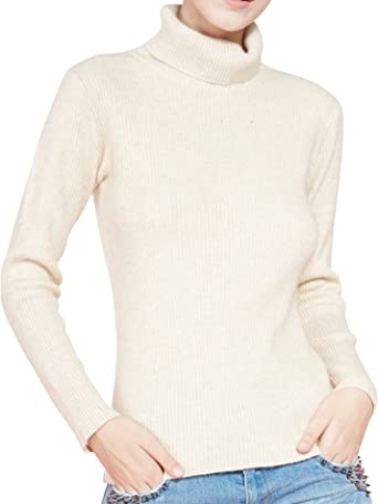 Women/'S SLIM Knitted TURTLENECK CACHEMIRE Jumper Pullover elasticity Cozy X