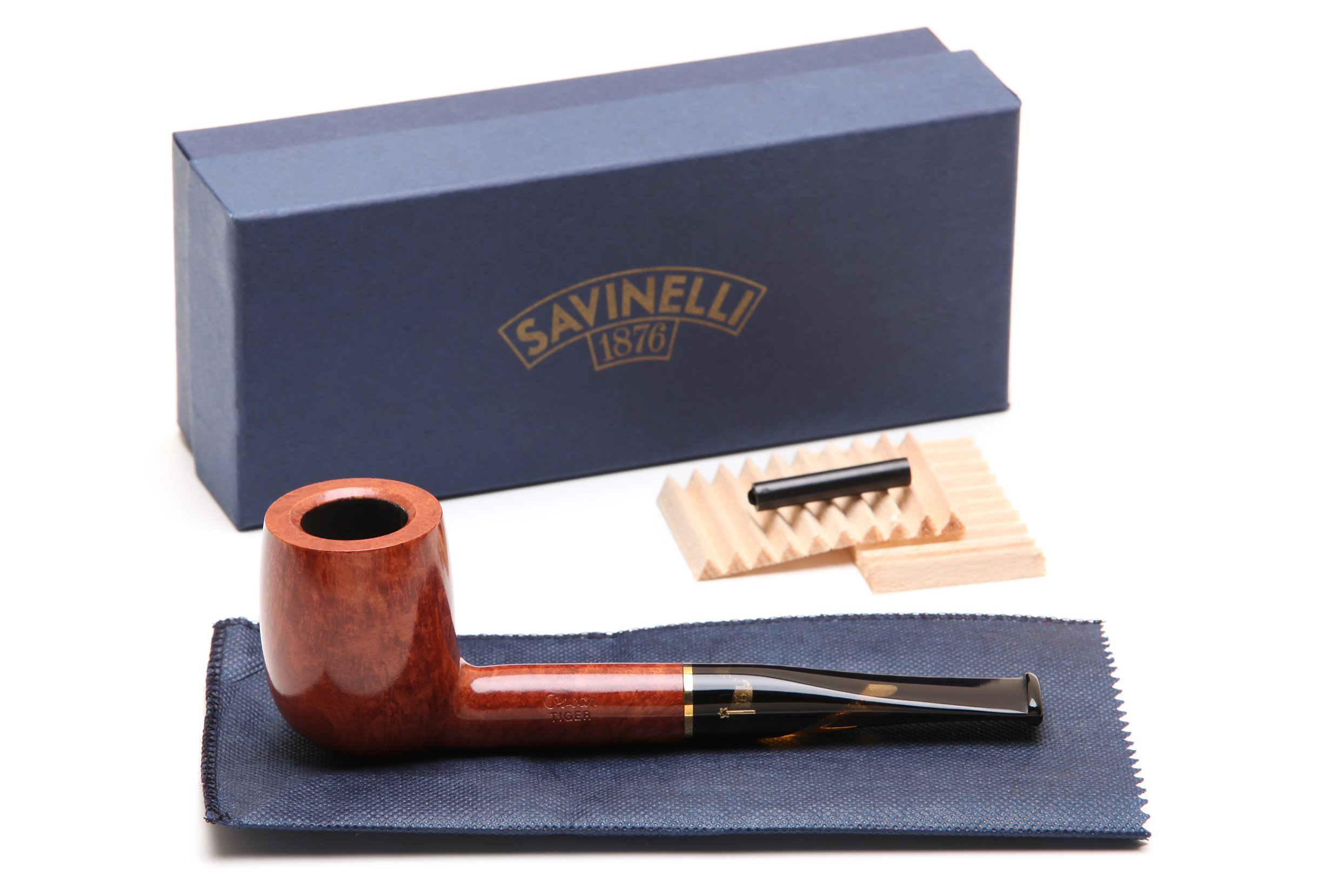 Savinelli Oscar Tiger Smooth Briar Pipe KS 111 Tobacco Pipe